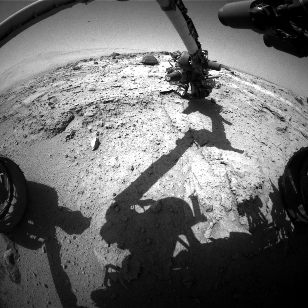 Nasa's Mars rover Curiosity acquired this image using its Front Hazard Avoidance Camera (Front Hazcam) on Sol 400, at drive 148, site number 16