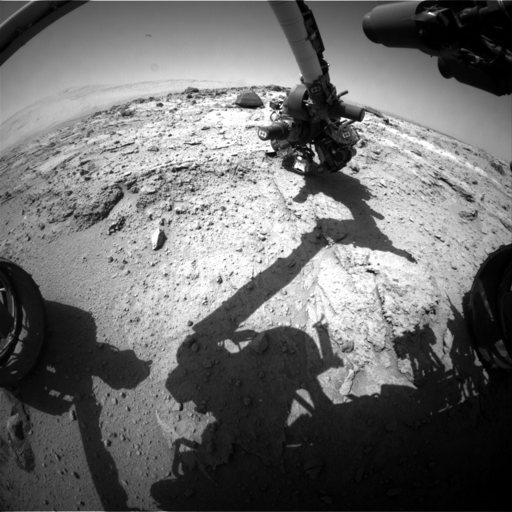 NASA's Mars rover Curiosity acquired this image using its Front Hazard Avoidance Cameras (Front Hazcams) on Sol 401