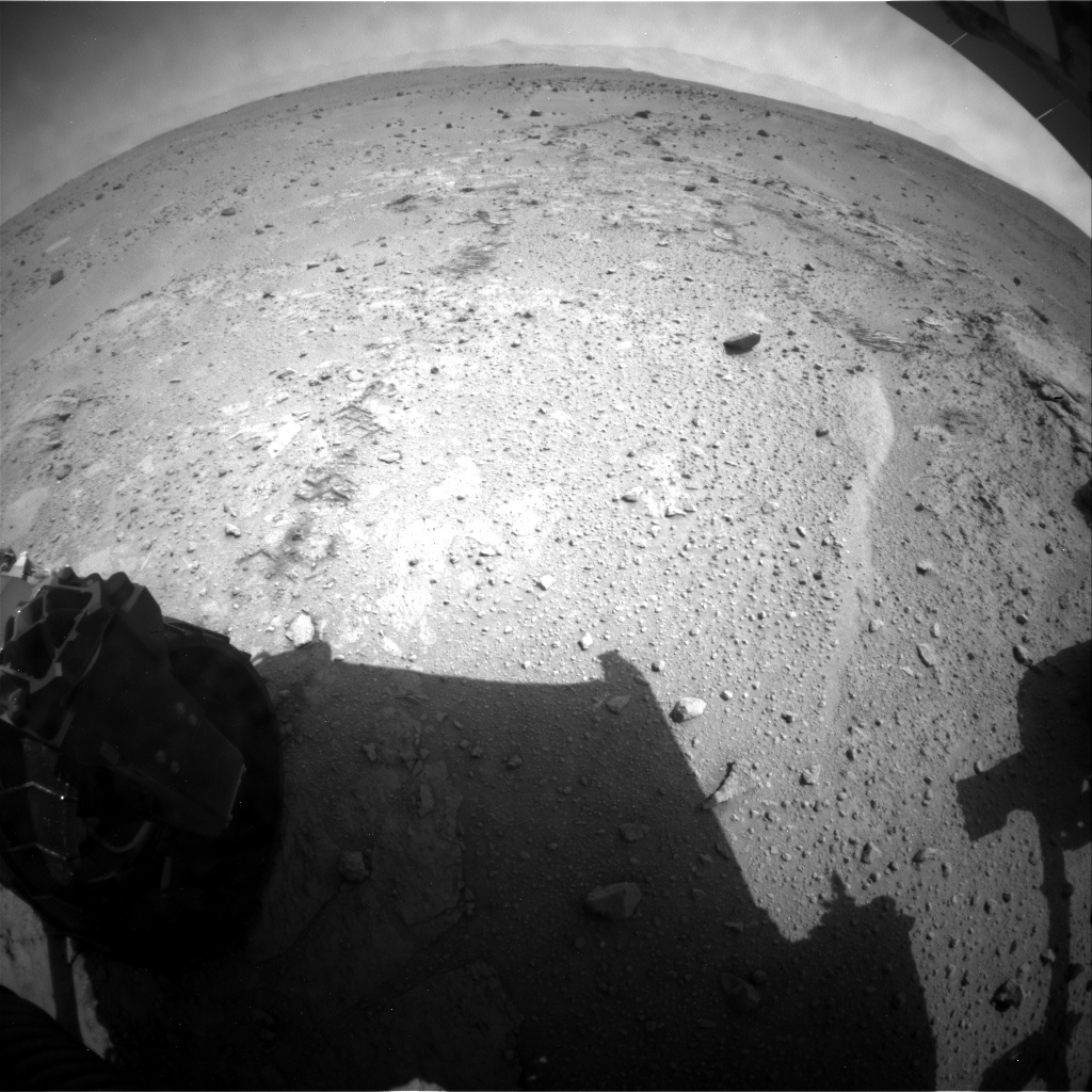 NASA's Mars rover Curiosity acquired this image using its Rear Hazard Avoidance Cameras (Rear Hazcams) on Sol 401