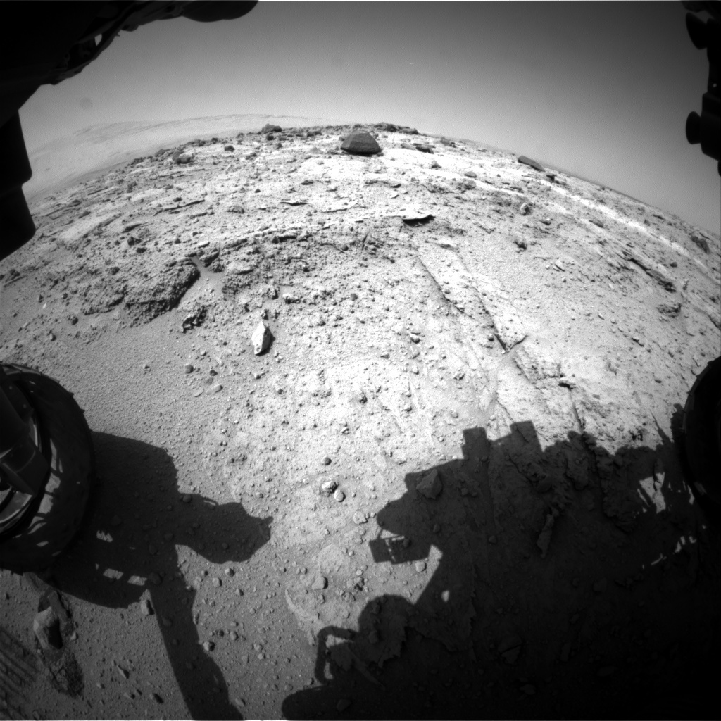 NASA's Mars rover Curiosity acquired this image using its Front Hazard Avoidance Cameras (Front Hazcams) on Sol 402