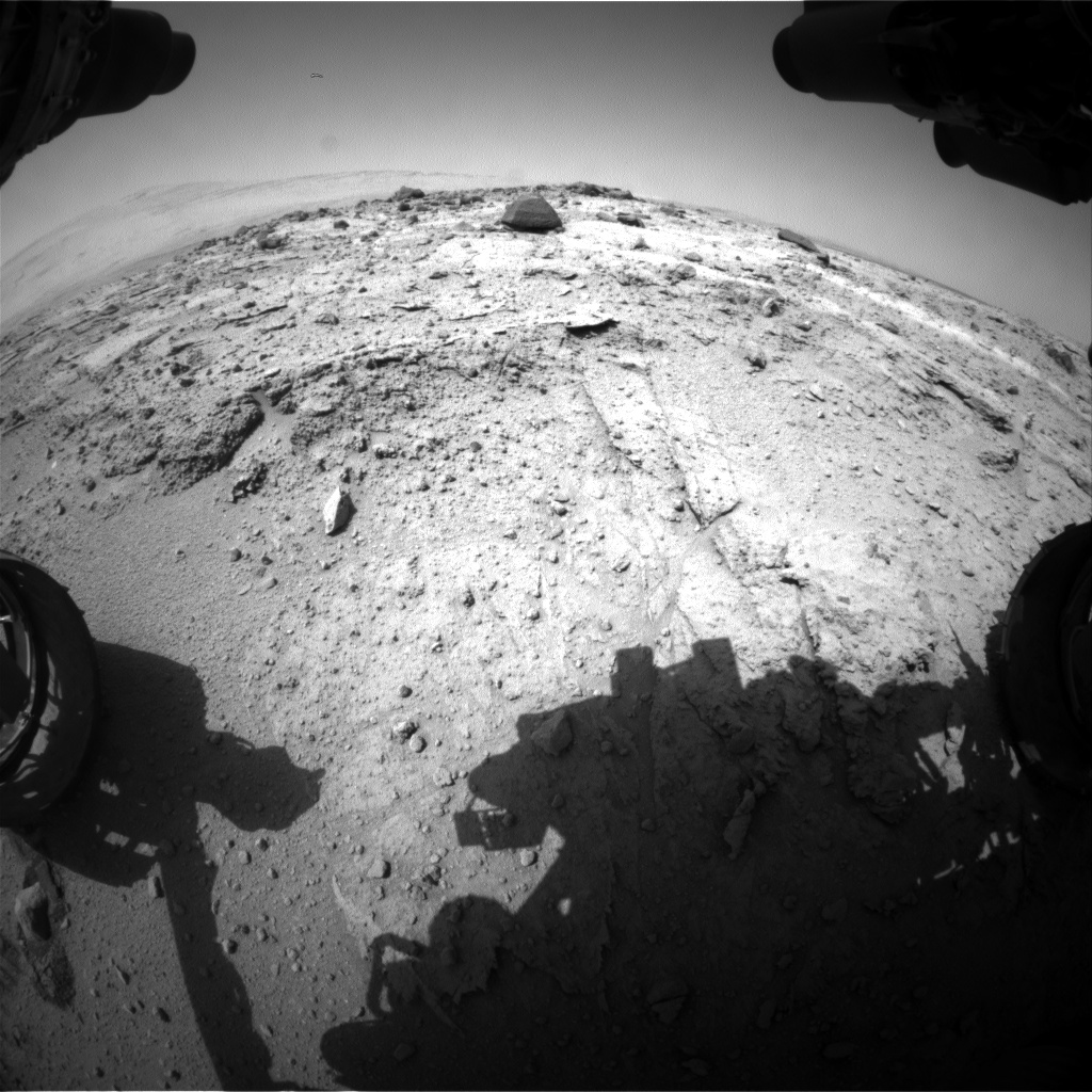 Nasa's Mars rover Curiosity acquired this image using its Front Hazard Avoidance Camera (Front Hazcam) on Sol 402, at drive 148, site number 16