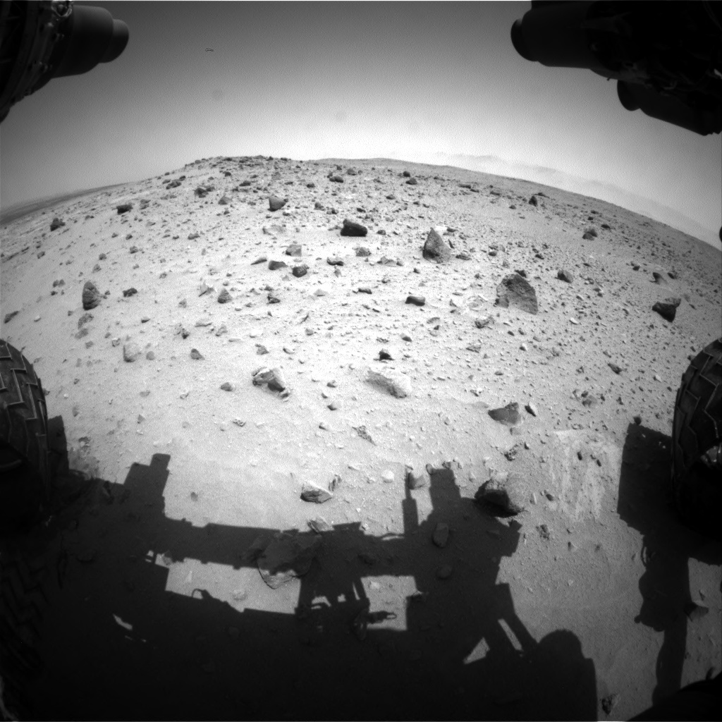 Nasa's Mars rover Curiosity acquired this image using its Front Hazard Avoidance Camera (Front Hazcam) on Sol 402, at drive 328, site number 16