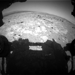 Nasa's Mars rover Curiosity acquired this image using its Front Hazard Avoidance Camera (Front Hazcam) on Sol 403, at drive 442, site number 16
