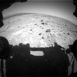 Nasa's Mars rover Curiosity acquired this image using its Front Hazard Avoidance Camera (Front Hazcam) on Sol 403, at drive 472, site number 16