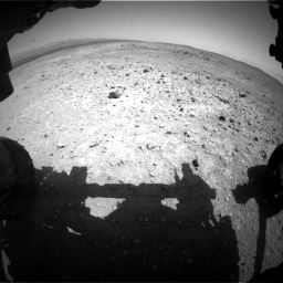 Nasa's Mars rover Curiosity acquired this image using its Front Hazard Avoidance Camera (Front Hazcam) on Sol 403, at drive 622, site number 16
