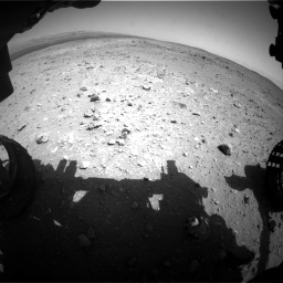 Nasa's Mars rover Curiosity acquired this image using its Front Hazard Avoidance Camera (Front Hazcam) on Sol 403, at drive 664, site number 16