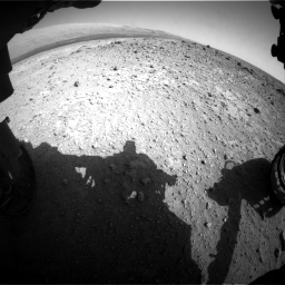 Nasa's Mars rover Curiosity acquired this image using its Front Hazard Avoidance Camera (Front Hazcam) on Sol 403, at drive 964, site number 16