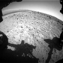 Nasa's Mars rover Curiosity acquired this image using its Front Hazard Avoidance Camera (Front Hazcam) on Sol 403, at drive 982, site number 16
