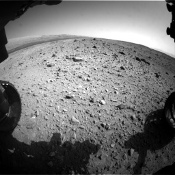 Nasa's Mars rover Curiosity acquired this image using its Front Hazard Avoidance Camera (Front Hazcam) on Sol 403, at drive 1018, site number 16