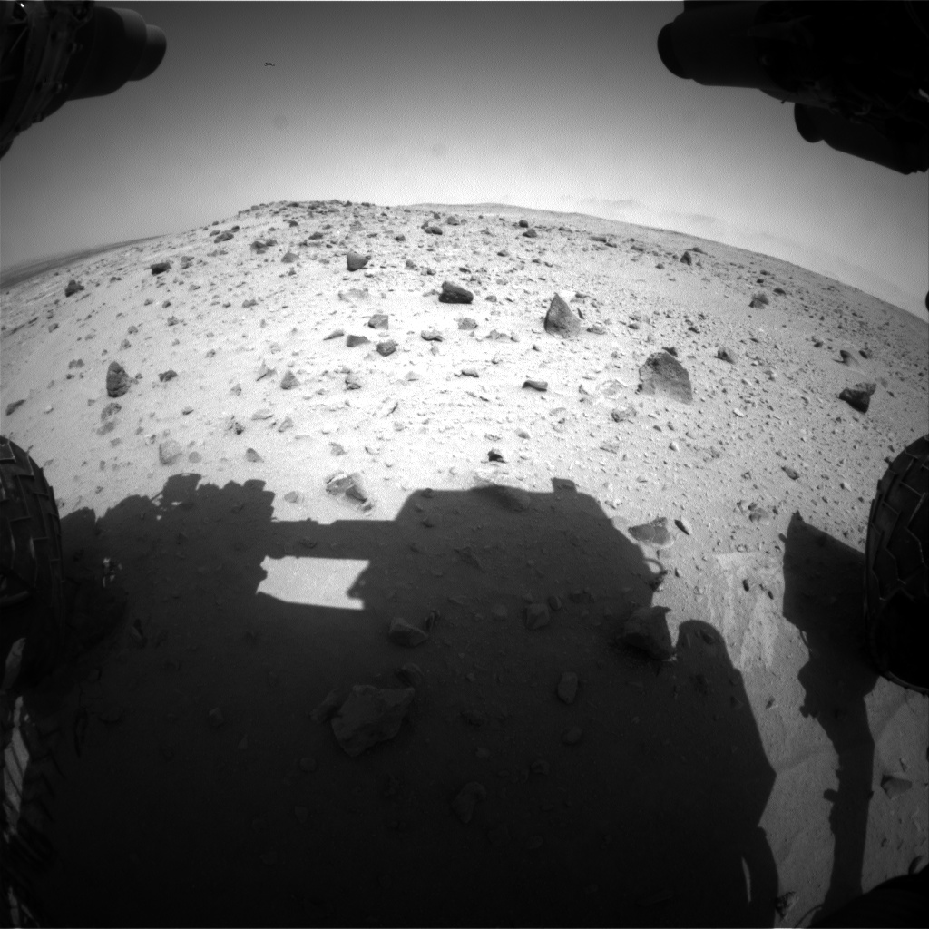 Nasa's Mars rover Curiosity acquired this image using its Front Hazard Avoidance Camera (Front Hazcam) on Sol 403, at drive 328, site number 16