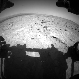 Nasa's Mars rover Curiosity acquired this image using its Front Hazard Avoidance Camera (Front Hazcam) on Sol 403, at drive 466, site number 16