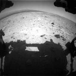 Nasa's Mars rover Curiosity acquired this image using its Front Hazard Avoidance Camera (Front Hazcam) on Sol 403, at drive 490, site number 16