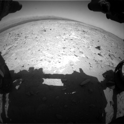 Nasa's Mars rover Curiosity acquired this image using its Front Hazard Avoidance Camera (Front Hazcam) on Sol 403, at drive 496, site number 16