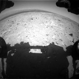 Nasa's Mars rover Curiosity acquired this image using its Front Hazard Avoidance Camera (Front Hazcam) on Sol 403, at drive 502, site number 16