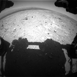 Nasa's Mars rover Curiosity acquired this image using its Front Hazard Avoidance Camera (Front Hazcam) on Sol 403, at drive 514, site number 16