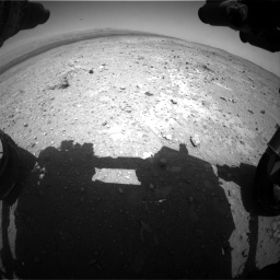 Nasa's Mars rover Curiosity acquired this image using its Front Hazard Avoidance Camera (Front Hazcam) on Sol 403, at drive 520, site number 16