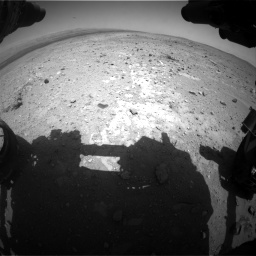 Nasa's Mars rover Curiosity acquired this image using its Front Hazard Avoidance Camera (Front Hazcam) on Sol 403, at drive 526, site number 16