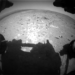Nasa's Mars rover Curiosity acquired this image using its Front Hazard Avoidance Camera (Front Hazcam) on Sol 403, at drive 538, site number 16
