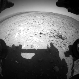 Nasa's Mars rover Curiosity acquired this image using its Front Hazard Avoidance Camera (Front Hazcam) on Sol 403, at drive 562, site number 16