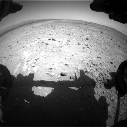 Nasa's Mars rover Curiosity acquired this image using its Front Hazard Avoidance Camera (Front Hazcam) on Sol 403, at drive 568, site number 16