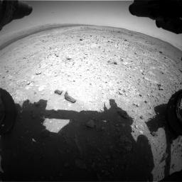 Nasa's Mars rover Curiosity acquired this image using its Front Hazard Avoidance Camera (Front Hazcam) on Sol 403, at drive 586, site number 16