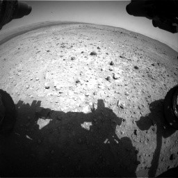 Nasa's Mars rover Curiosity acquired this image using its Front Hazard Avoidance Camera (Front Hazcam) on Sol 403, at drive 640, site number 16
