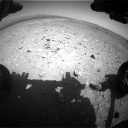 Nasa's Mars rover Curiosity acquired this image using its Front Hazard Avoidance Camera (Front Hazcam) on Sol 403, at drive 658, site number 16