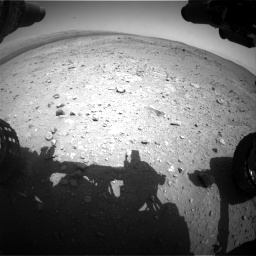Nasa's Mars rover Curiosity acquired this image using its Front Hazard Avoidance Camera (Front Hazcam) on Sol 403, at drive 670, site number 16