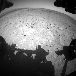 Nasa's Mars rover Curiosity acquired this image using its Front Hazard Avoidance Camera (Front Hazcam) on Sol 403, at drive 688, site number 16