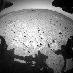 Nasa's Mars rover Curiosity acquired this image using its Front Hazard Avoidance Camera (Front Hazcam) on Sol 403, at drive 706, site number 16