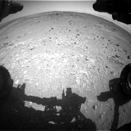 Nasa's Mars rover Curiosity acquired this image using its Front Hazard Avoidance Camera (Front Hazcam) on Sol 403, at drive 724, site number 16