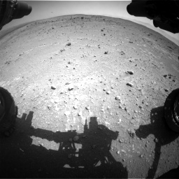 Nasa's Mars rover Curiosity acquired this image using its Front Hazard Avoidance Camera (Front Hazcam) on Sol 403, at drive 742, site number 16