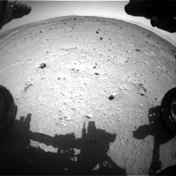 Nasa's Mars rover Curiosity acquired this image using its Front Hazard Avoidance Camera (Front Hazcam) on Sol 403, at drive 760, site number 16