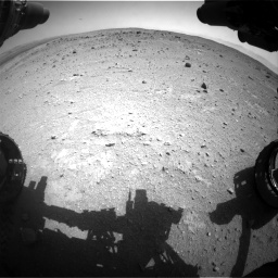 Nasa's Mars rover Curiosity acquired this image using its Front Hazard Avoidance Camera (Front Hazcam) on Sol 403, at drive 778, site number 16