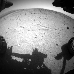 Nasa's Mars rover Curiosity acquired this image using its Front Hazard Avoidance Camera (Front Hazcam) on Sol 403, at drive 796, site number 16