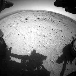 Nasa's Mars rover Curiosity acquired this image using its Front Hazard Avoidance Camera (Front Hazcam) on Sol 403, at drive 832, site number 16