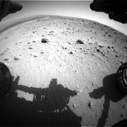 Nasa's Mars rover Curiosity acquired this image using its Front Hazard Avoidance Camera (Front Hazcam) on Sol 403, at drive 850, site number 16