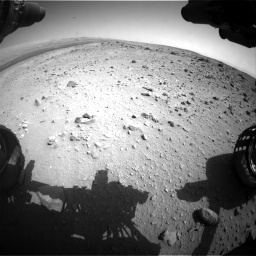 Nasa's Mars rover Curiosity acquired this image using its Front Hazard Avoidance Camera (Front Hazcam) on Sol 403, at drive 868, site number 16