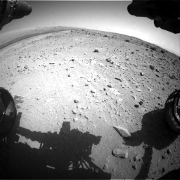 Nasa's Mars rover Curiosity acquired this image using its Front Hazard Avoidance Camera (Front Hazcam) on Sol 403, at drive 886, site number 16