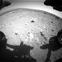 Nasa's Mars rover Curiosity acquired this image using its Front Hazard Avoidance Camera (Front Hazcam) on Sol 403, at drive 904, site number 16