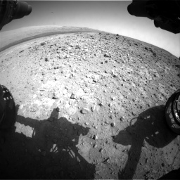 Nasa's Mars rover Curiosity acquired this image using its Front Hazard Avoidance Camera (Front Hazcam) on Sol 403, at drive 988, site number 16