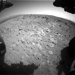 Nasa's Mars rover Curiosity acquired this image using its Front Hazard Avoidance Camera (Front Hazcam) on Sol 403, at drive 994, site number 16