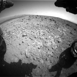 Nasa's Mars rover Curiosity acquired this image using its Front Hazard Avoidance Camera (Front Hazcam) on Sol 403, at drive 1000, site number 16