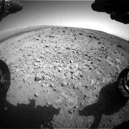 Nasa's Mars rover Curiosity acquired this image using its Front Hazard Avoidance Camera (Front Hazcam) on Sol 403, at drive 1006, site number 16