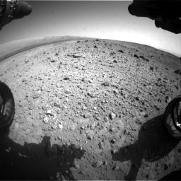 Nasa's Mars rover Curiosity acquired this image using its Front Hazard Avoidance Camera (Front Hazcam) on Sol 403, at drive 1012, site number 16