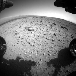 Nasa's Mars rover Curiosity acquired this image using its Front Hazard Avoidance Camera (Front Hazcam) on Sol 403, at drive 1024, site number 16