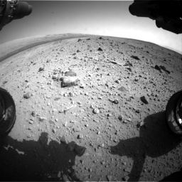 Nasa's Mars rover Curiosity acquired this image using its Front Hazard Avoidance Camera (Front Hazcam) on Sol 403, at drive 1030, site number 16