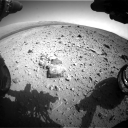 Nasa's Mars rover Curiosity acquired this image using its Front Hazard Avoidance Camera (Front Hazcam) on Sol 403, at drive 1036, site number 16