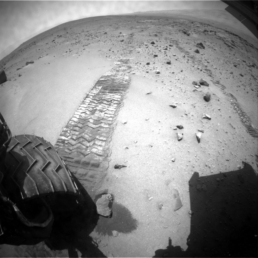 NASA's Mars rover Curiosity acquired this image using its Rear Hazard Avoidance Cameras (Rear Hazcams) on Sol 403