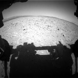 Nasa's Mars rover Curiosity acquired this image using its Front Hazard Avoidance Camera (Front Hazcam) on Sol 404, at drive 1160, site number 16